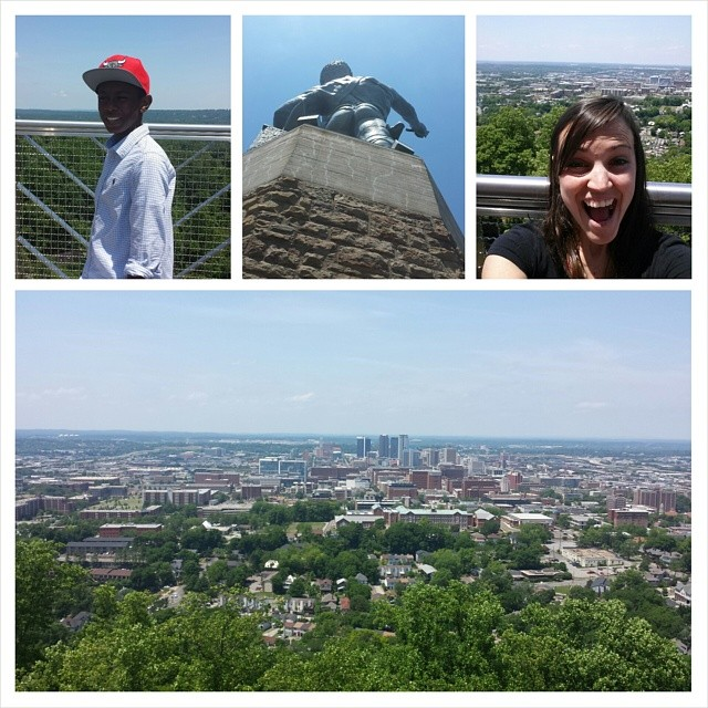 We visited Vulcan... and his booty!! Love the view from up there of Birmingham!