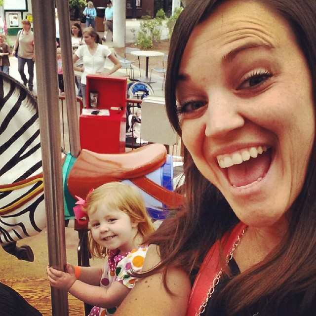 I got to ride the carousel with my girl Jojo!